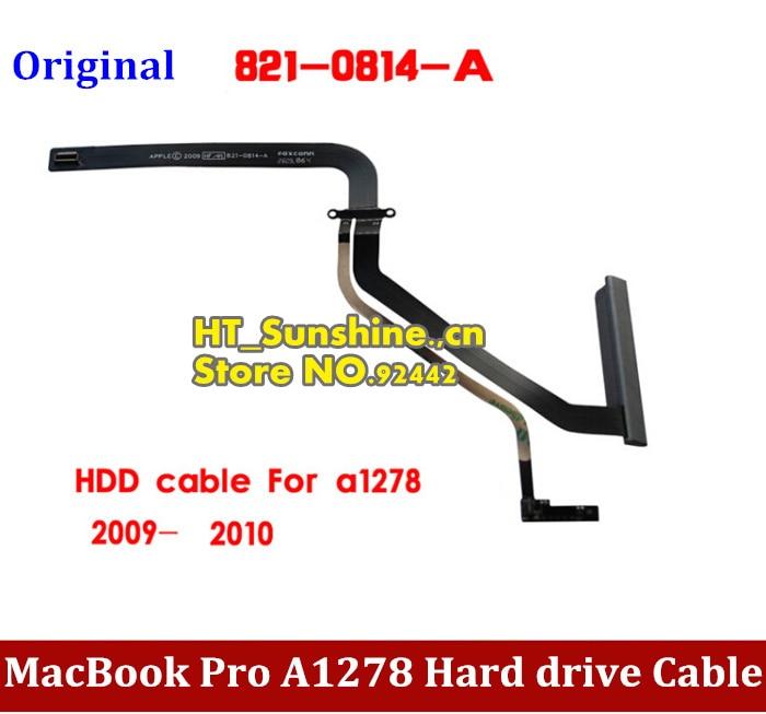 1PCS New HDD Cable for 13 Macbook Pro A1278 MB990 MB991 MC374 2009 2010 821-0814-A original hdd cable for 13 macbook pro a1278 101 102 md313 md314 mc723 hdd cable 821 1480 a 2pcs lot