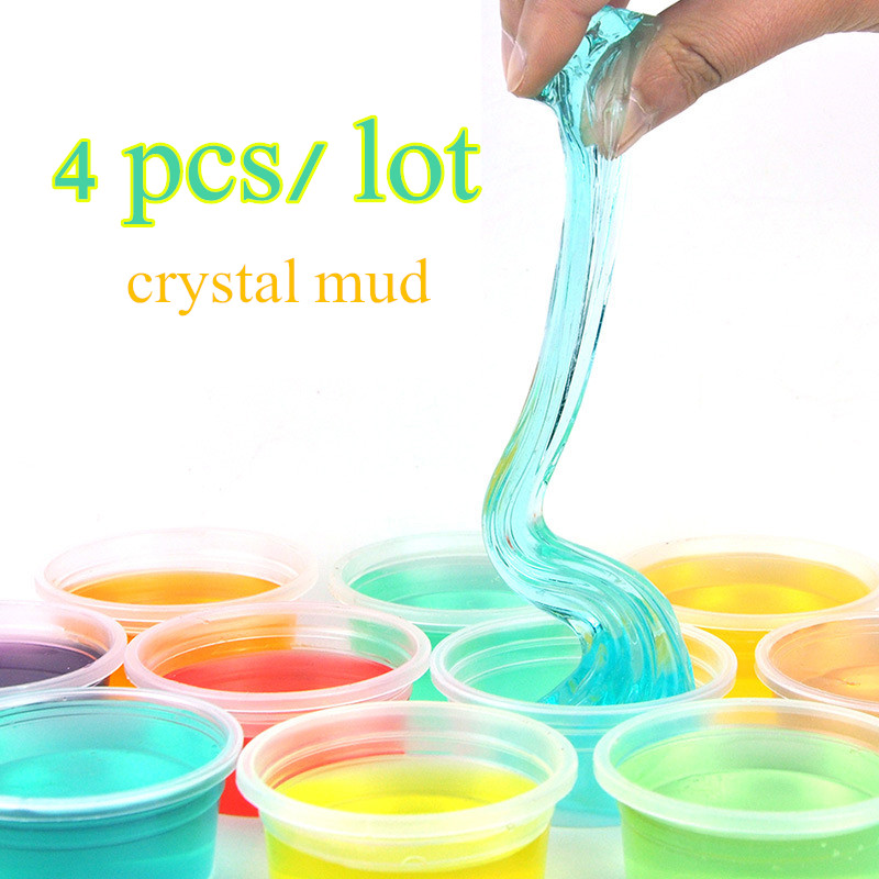 4pcs Crystal SLIME Mud Jelly Nontoxic magnetic Putty antistress toy slime toys magnetic thinking putty slime clay mud plasticine