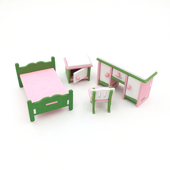 1:12 Dollhouse Miniature Furniture Wooden Creative Bathroom Bedroom Restaurant For Kids Action Figure Doll House Decoration Doll - 90560