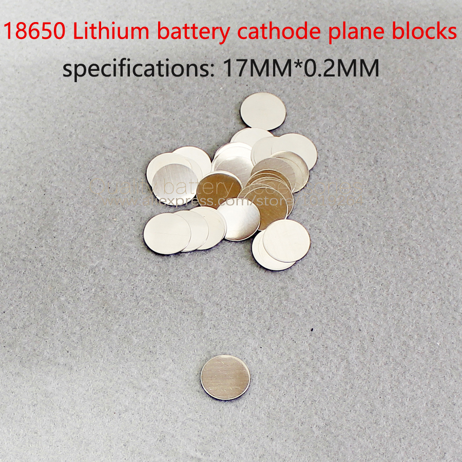50pcs lot 18650 lithium battery negative spot welding cap stainless steel 18650 battery cathode flat head cap accessories in Batteries from Consumer Electronics