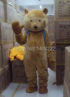 Brown teddy bear gentleman suit adult mascot costume