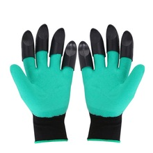 1 Pair Garden Gloves With Fingertips Claws ABS Rubber GlovesFor Gardening Raking Digging Planting Latex Work Tools Z