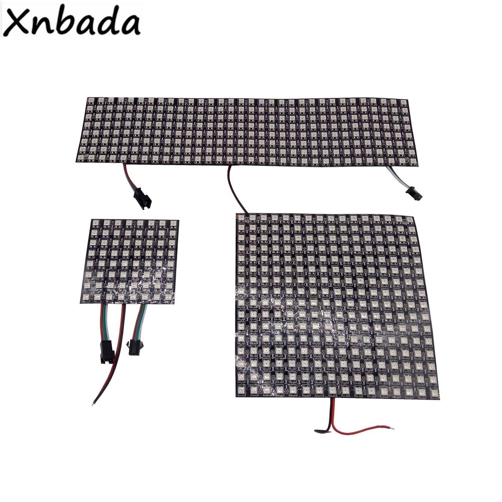 WS2812B LED Panel Screen 8*8,16*16,8*32 Pixels Digital Flexible Led Programmed Individually Addressable Full Color DC5V