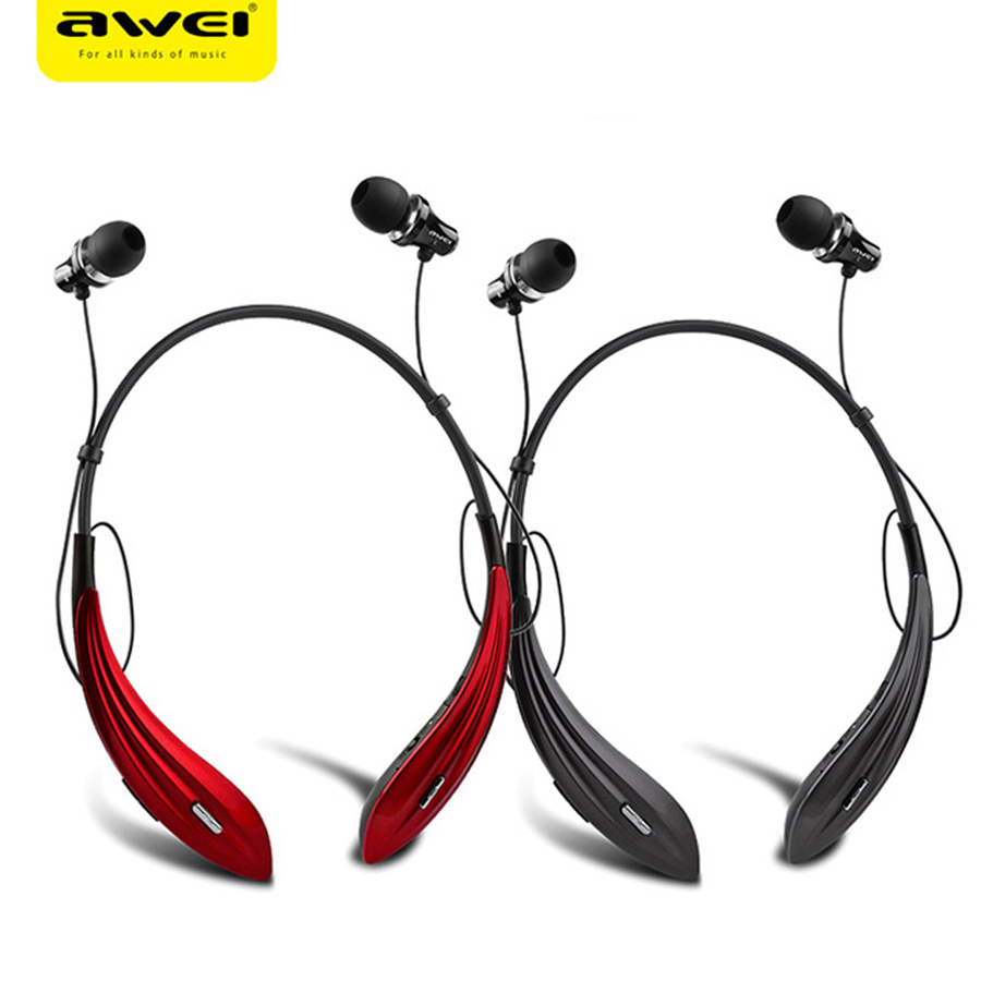 Awei A810BL Sport Blutooth Cordless Earpiece Earbud Wireless Headphone Headset Auriculares Bluetooth Earphone For Phone With Mic wireless bluetooth earphone headphones s9 sport earpiece headset with tf card slot 8g auriculares with micro for iphone android