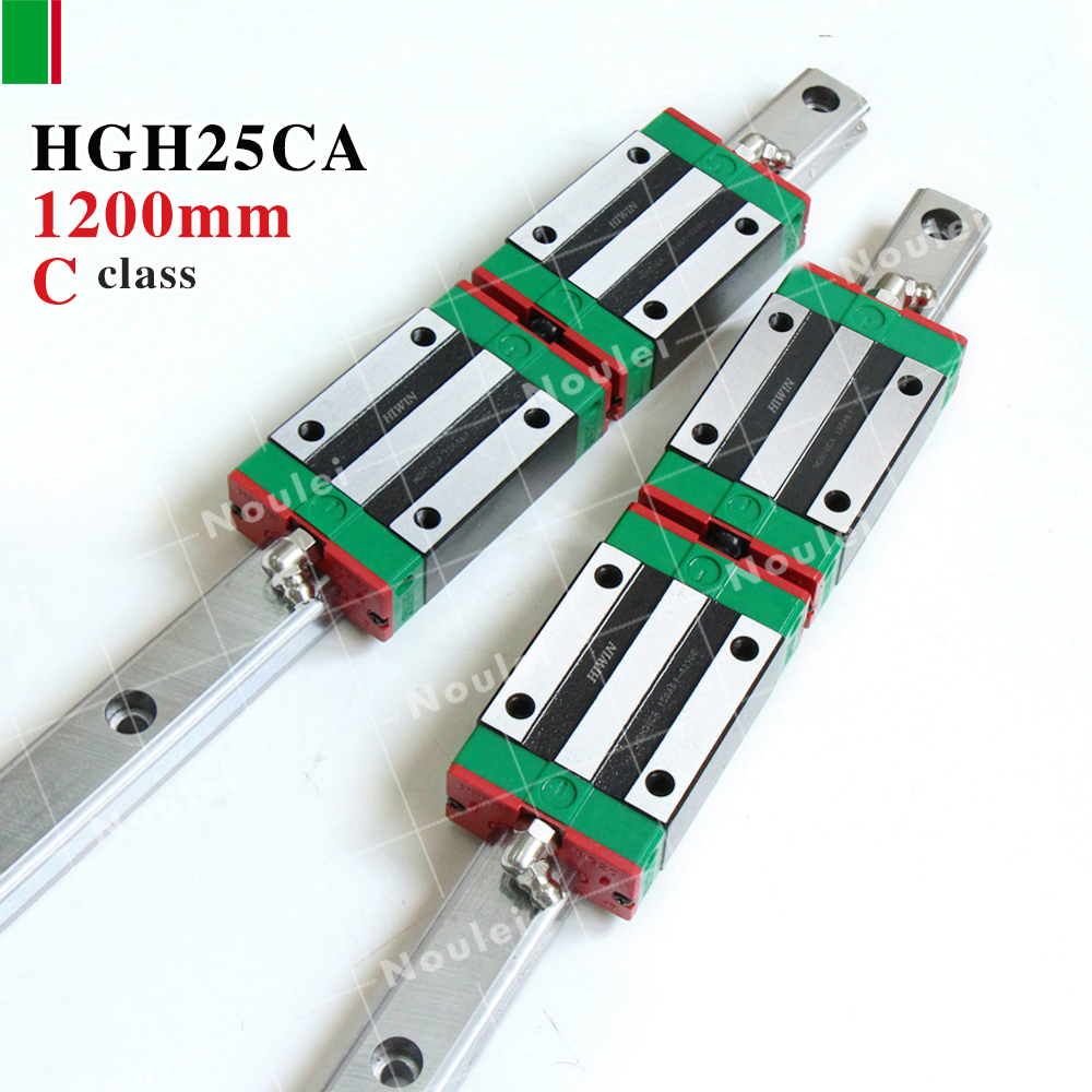 HGH25CA HIWIN linear slider with 1200mm guide rail HGR25 of cnc parts set High efficiency HGH25 2pcs hiwin hgh25ca linear guide slider block linear rails carrier