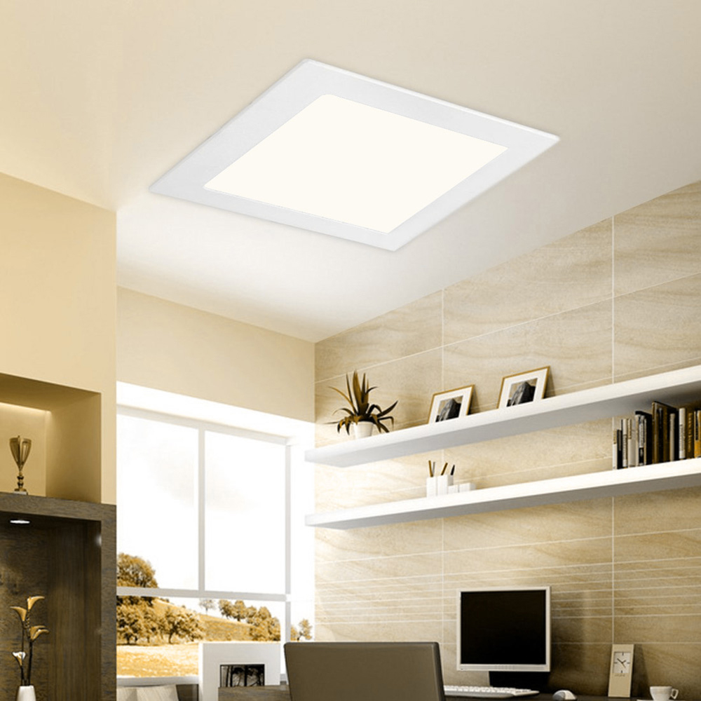Recessed Panel Living Room Interior: 6W Recessed Ceiling Panel Lamp Down Light Square AC85 265V