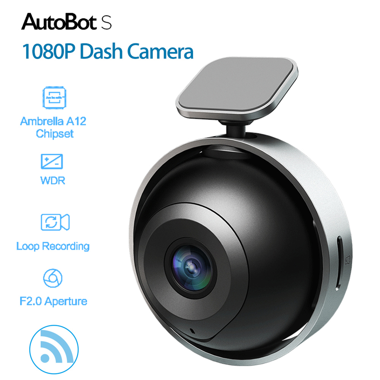 AutoBot S Full HD 1080P Car Camera WiFi Smart Dash Cam DVR Ambarella S2L33M WDR Mini Video Recorder G-Sensor Night Vision ...