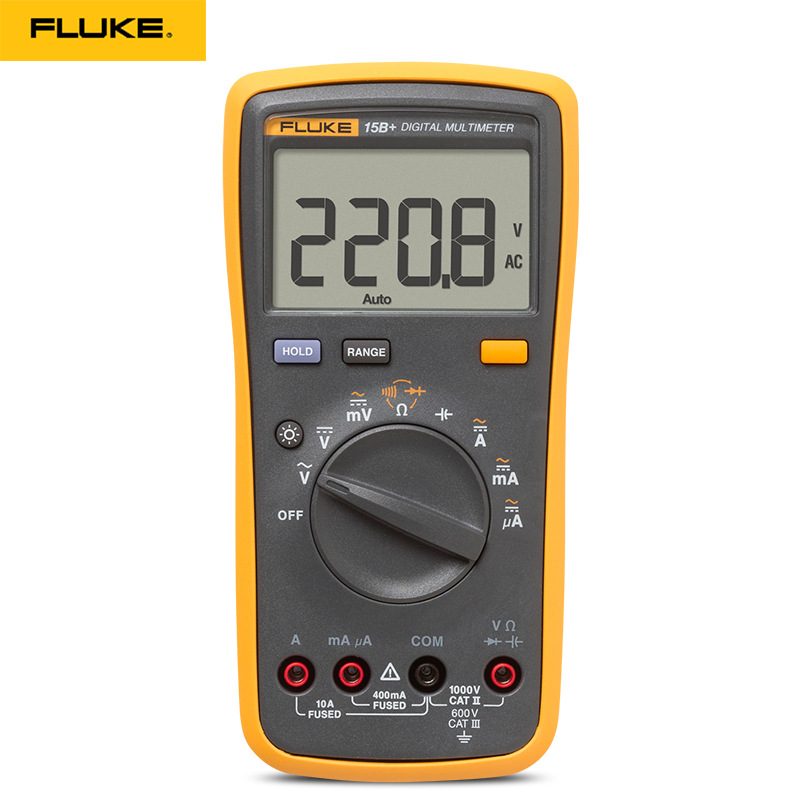 Original Fluke 15B+/17B+/18B+/12E+ Plus Auto Digital Range Multimeter DMM AC/DC/Diode/R/C Voltage Current Tester