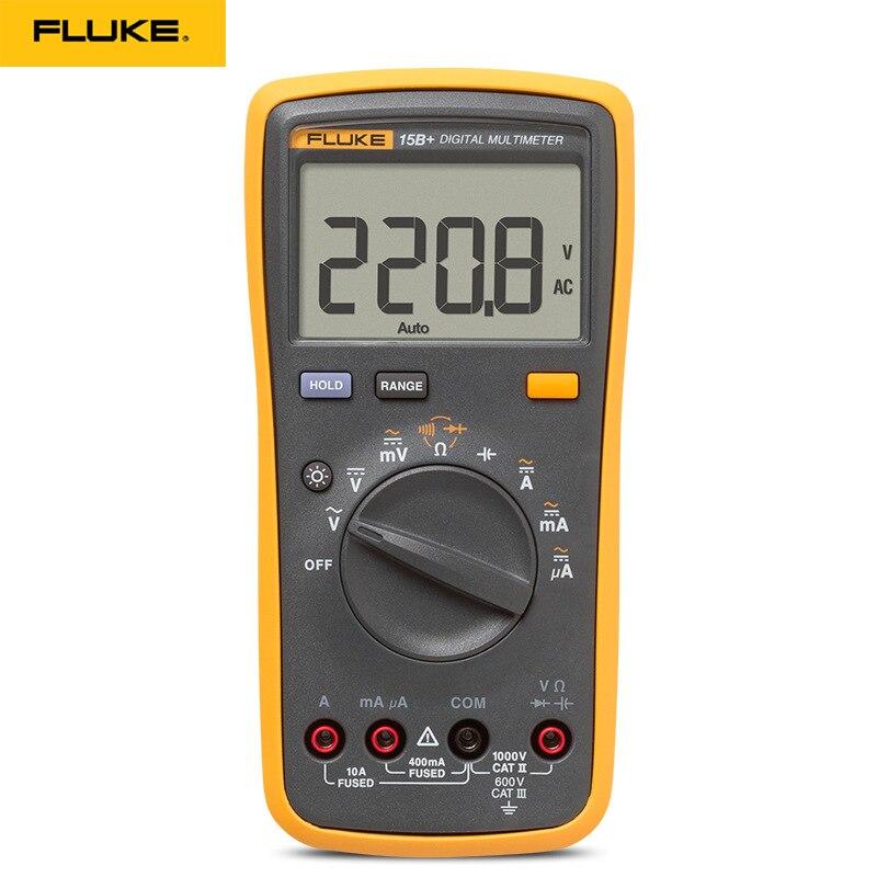 Testeur de courant de tension DMM AC/DC/Diode/R/C d'origine Fluke 15B +/17B +/18B +/12E + Plus
