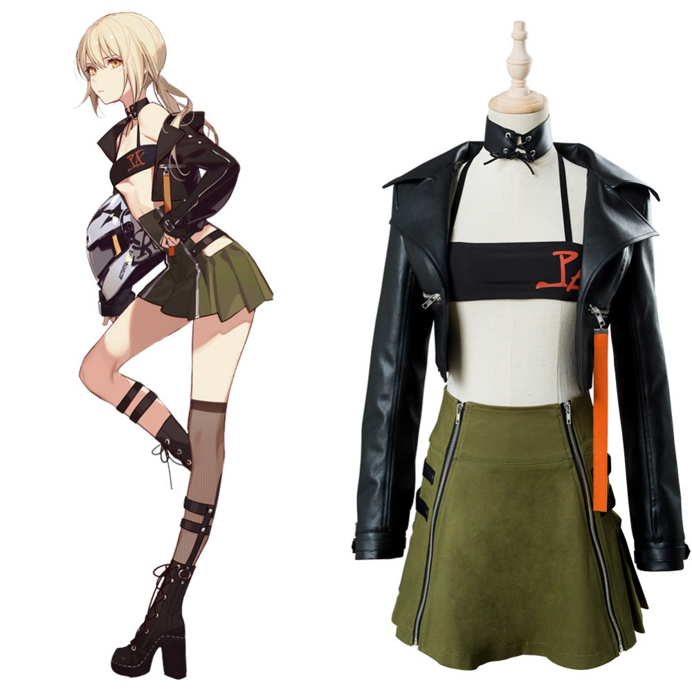 Fate Grand Order Cosplay Fate Arturia Costume Cosplay Moon Girlfriend Uniform Full Dress Outfit Women Halloween Carnival