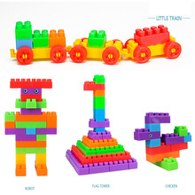childern DIY Spelling toy Early education puzzle Large particles help little baby to change many shapes