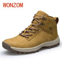 WONZOM 2018 New Brand Men Boots Spring Autumn Waterproof Ankle Boots Man Fashion Casual High Quality
