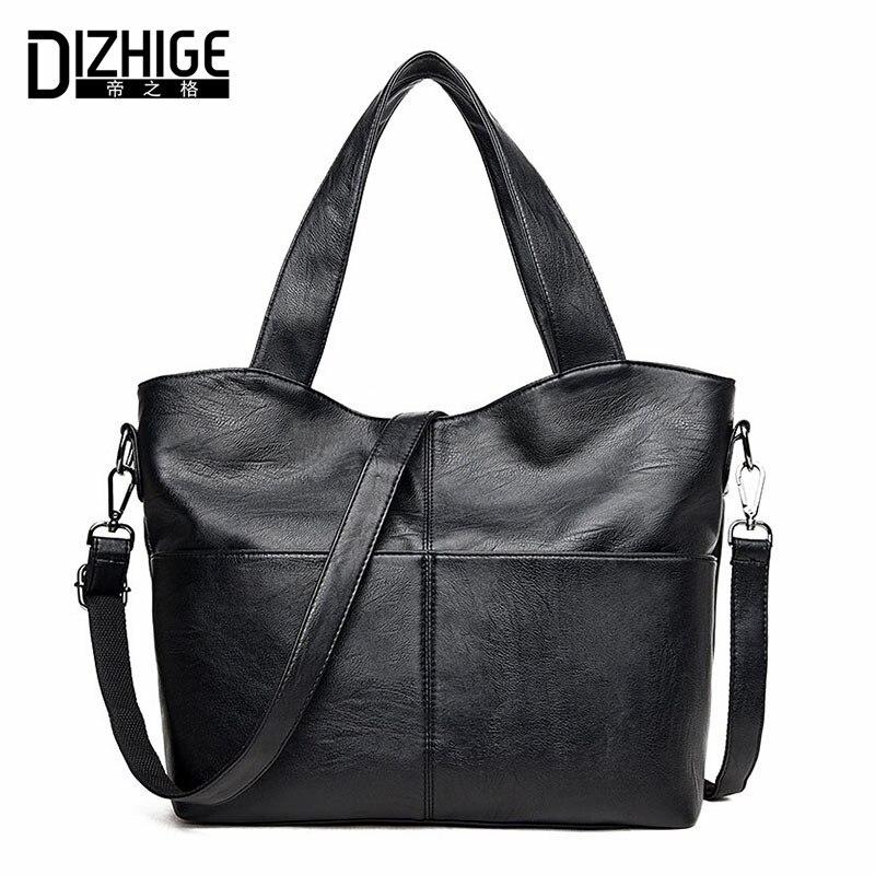 ФОТО DIZHIGE Brand 2017 Fashion Shoulder Bags Big Capacity Handbags Women Bag Designer PU Leather Bags Ladies Hand Tote High Quality