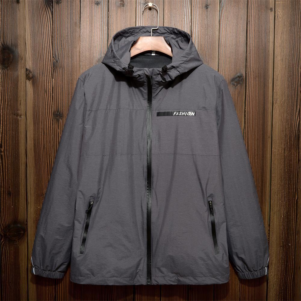 10xl 9xl 8xl 7XL 6xl 5XL printemps hommes de Veste À Capuche, été occasionnels veste veste, à la mode mince coupe-vent, zipper manteau