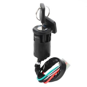 Kits universales de encendido para motocicleta, interruptor de arranque de cuatriciclos de 4 cables + llave para moto de 50, 70, 90, 110, 125, 150, 200, 250CC, ATV, Quad Dirt Bike