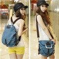 2016 Women school backpacks canvas backpack denim backpacks for teenage girls vintage school campus bags travel backpacks
