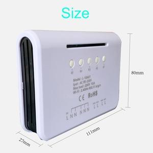 Image 3 - Loveanna 4CH 4 Gang Wifi inteligentny przełącznik światła, 4 kanałowy przełącznik elektroniczny kontrola aplikacji, współpracuje z Alexa Google Home VS SONOFF 4CH