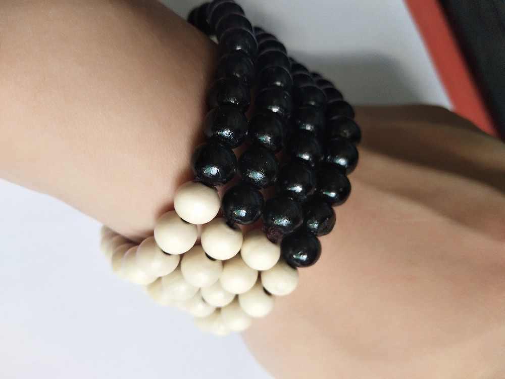 2018 hot pulseira estilo Étnico grânulo de madeira pulseira trecho colo pequeno cores cadeia pulseira de contas para as mulheres e homens jóias