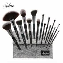 Sylyne profesyonel makyaj fırçası es 15 adet yüksek kaliteli klasik yumuşak makyaj fırçası makyaj fırçası seti kiti araçları.