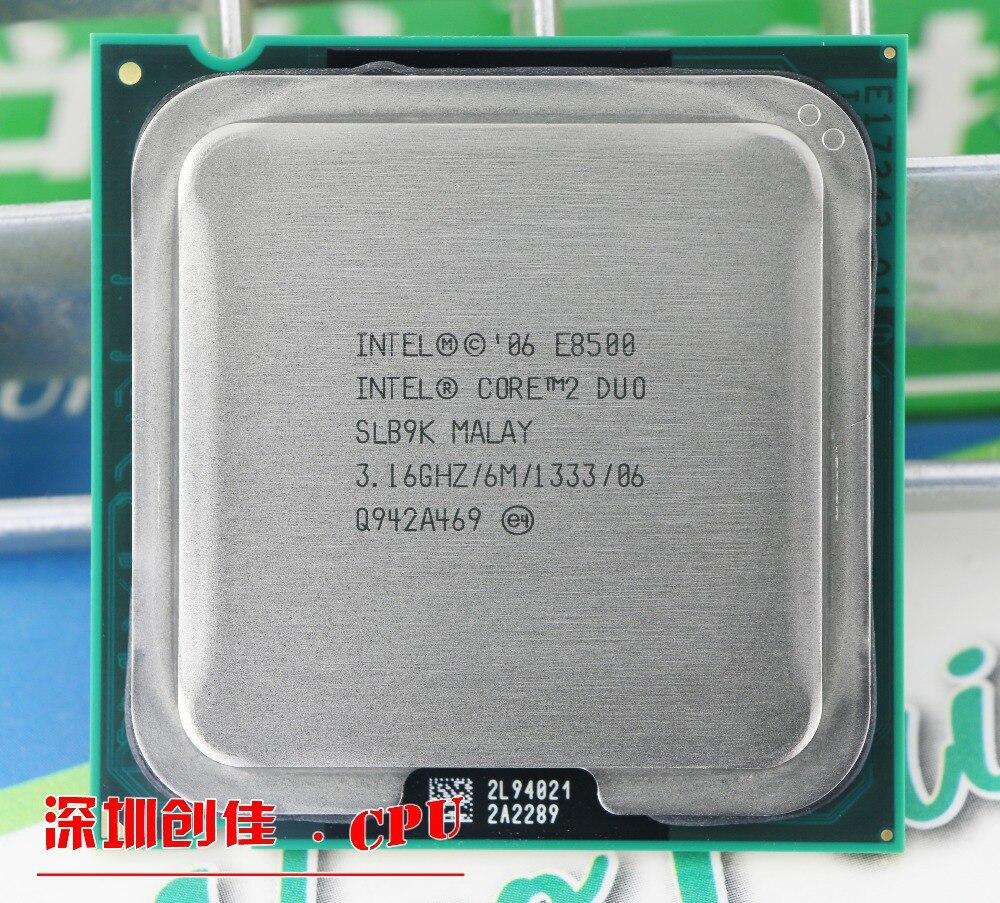 D'origine pour Intel Core 2 Duo E8500 CPU Processeur (3.16 Ghz/6 M/1333 GHz) Prise 775 livraison gratuite
