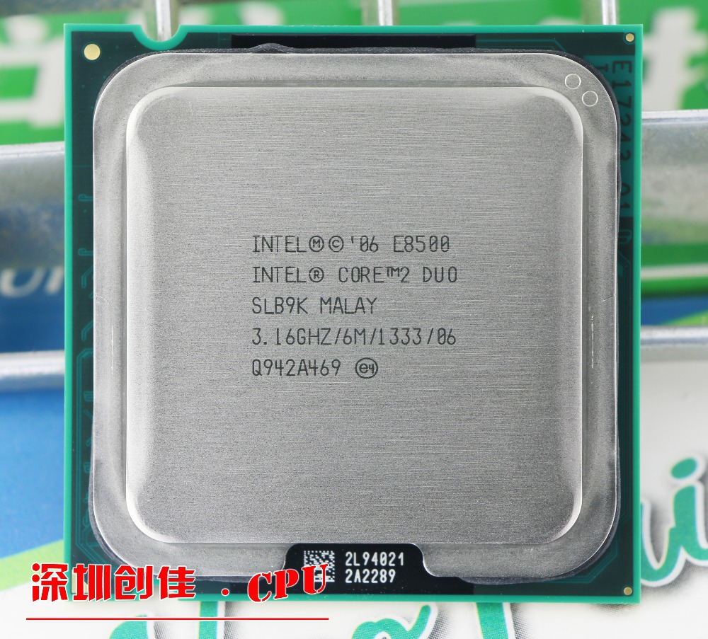 Original for Intel Core 2 Duo E8500 CPU Processor (3.16Ghz/ 6M /1333GHz) Socket 775 free shipping|cpu processor|socket 775|processore cpu - title=