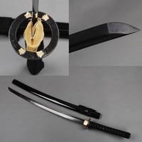 SHI JIAN Black Japanese Samurai Sword Katana Damascus Full Tang Cutting Practice Sword Sharp Espada Metal Decoration Present