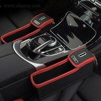 Vehicle Luxury Crevice Storage Box Grain Chair Organizer Car Seat Gap Slit Pocket Holder For Wallet