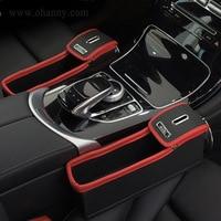 Car Seat Crevice Storage Box Grain Organizer Gap Slit filler  Holder For Wallet Phone Coins Cigarette Slit Pocket accessories