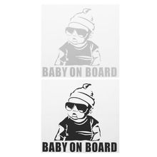 Car Lovely Cartoon Sticker BABY ON BOARD Rear Window Tail Decoration Safe Warning Sign Decal