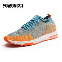 2017 High Quality Men Running Shoes mesh Sneakers Fly Weave Light Breathable Sport Shoes Comfortable Sneakers Air Cushion Shoes