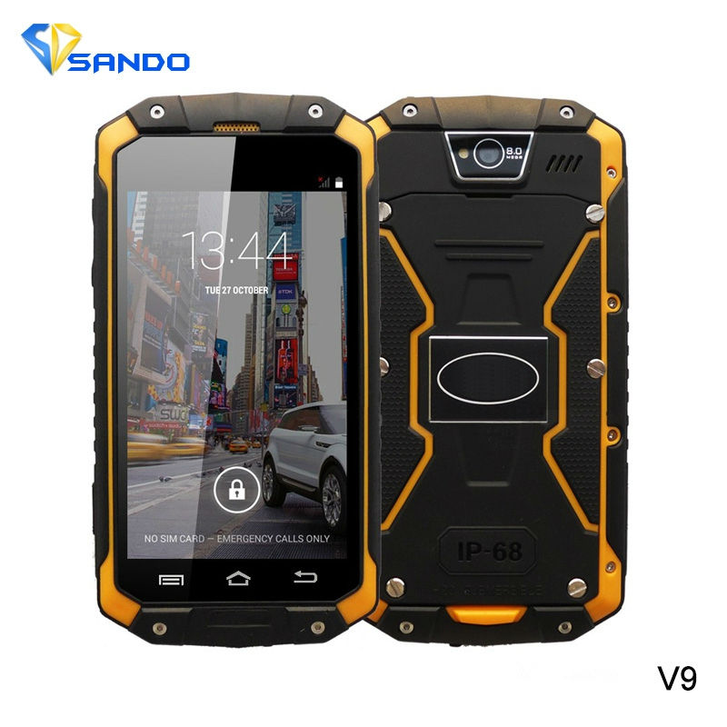 guophone V9 IP68 Rugged Phone MTK6572 512RAM 4GB ROM WCDMA 3G Waterproof Shockproof Dual SIM card
