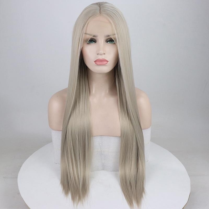Claro Natural Reta Longa peruca de Cabelo