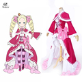 Rolecos Re:Life in a different world from zero Beatrice Cosplay Costumes Pink Lolita Gothic Halloween Dresses For Girl