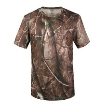 5Colors Hot sale Cotton Camo Outdoors Hunting Camping T Shirts Short Sleeves Camouflage Military T-shirt Fast dry Tactical Tees