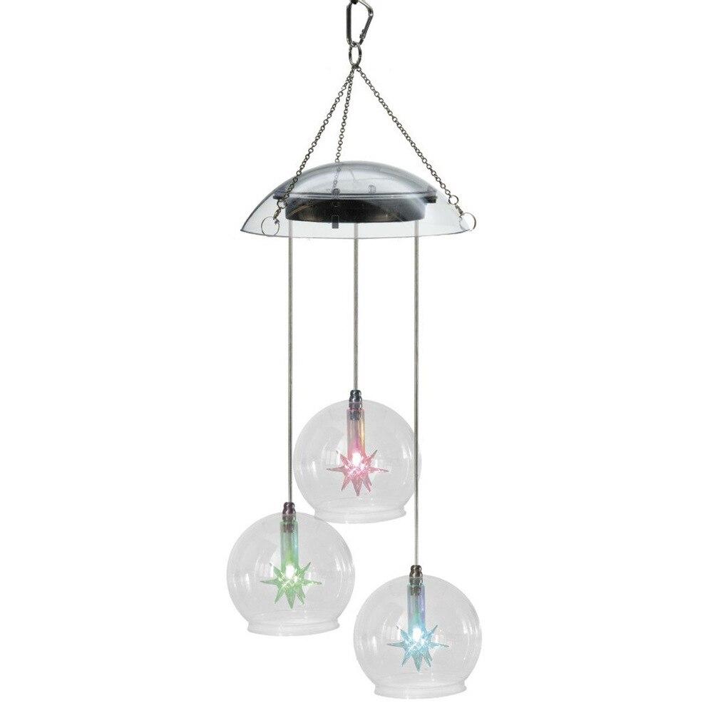 Solar Garden Light Solar Light Wind Chimes Hanging Lamp