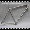 titanium bike frame for titanium road bicycle fashion style titanium alloy gr9 material titanium road bike frame and fork 700C