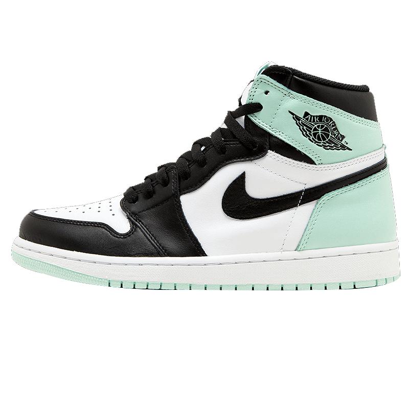 Gdzie mogę kupić San Francisco gorące wyprzedaże Nike Air Jordan 1 Retro High OG NRG AJ1 Men's Basketball Shoes Mint  Green,comfortable Outdoor Sports Shoes 861428 100