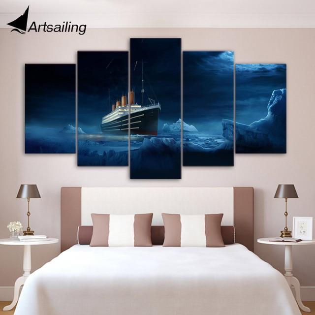 5 stück leinwand kunst Titanic eisberg poster und drucke wohnkultur ...