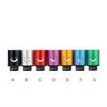 Voile unique conception cigarette électronique 510 aluminium drip conseils POM core sourire visage pour 510 réservoir de fil RTA atomiseur