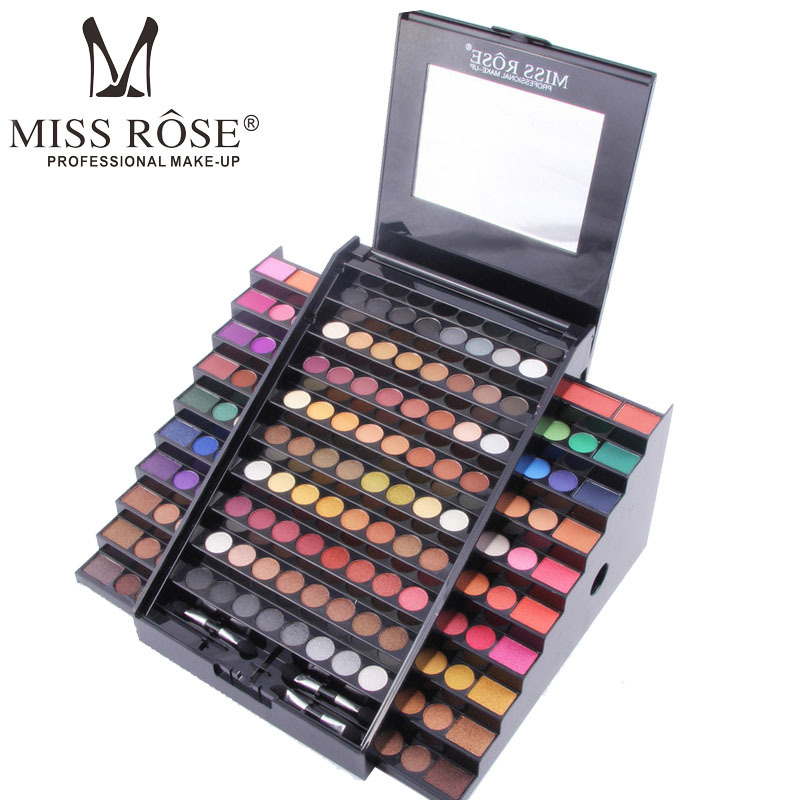 Eye Shadow Makeup Waterproof Natural Make up Cosmetics 130 Colors Set With Brush Ladder Shape Make Up Palette цена