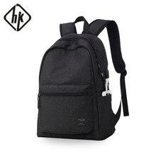 Männer Rucksack USB Laptop Notebook Rucksack 15,6 Zoll Zurück Pack Casual Männlichen Wasserdicht Schwarz Mode Reise Schulranzen