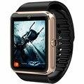 2016 novos relógios inteligentes gt08 conectividade bluetooth para iphone xiaomi android telefone inteligente eletrônica com mensagens de envio do cartão sim