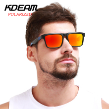 Kdeam Eyewear Reflective Coating Fashion Square Men Polarized Sunglasses Brand Designer Summer Sun Glasses Polaroid Full package