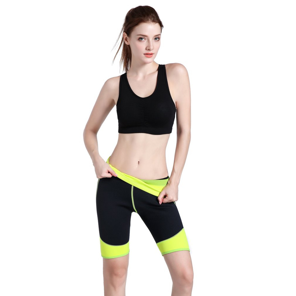 Women Neoprene Stretch Short Trouser Sport Running Sweat Enhancing Ladies Exercise Bodyshape Shaper Slim Shorts