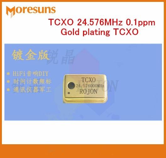Free Ship High precision Temperature compensation Crystal Oscillator TCXO 24 576MHz 0 1ppm gold plating TCXO