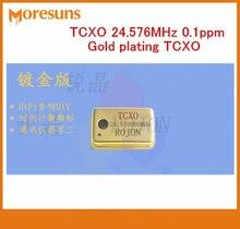 Бесплатная доставка Высокая точность Температура компенсации кварцевый генератор TCXO 24.576 мГц 0.1ppm позолота TCXO
