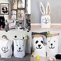 1 Pc Saco de Papel Kraft Pesado Sala de Crianças Saco De Armazenamento Saco Organizador Animais Dos Desenhos Animados Padrão Para O Brinquedo E Bebê Clothings 7zbb037-3
