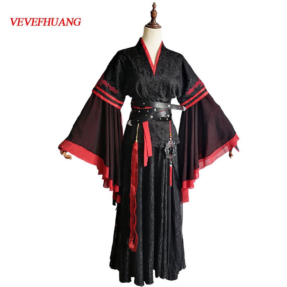VEVEFHUANG Wei Wuxian Cosplay Mo Xuanyu Costume Anime Grandmaster Of Demonic Cultivation Cosplay Mo Dao Zu Shi Costume Men