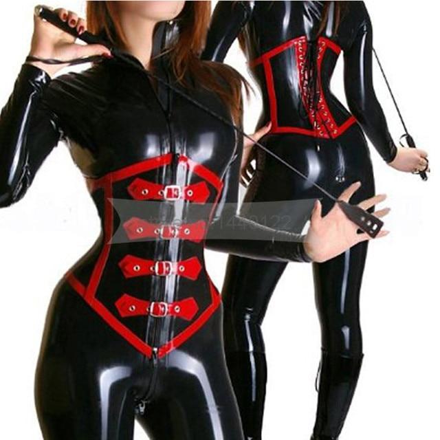 7585686b41 Rubber Latex Corset Women Rubber Body Sharper Black And Red Underbust Waist  Cincher Bustier Shapewear Customize Service BNLCC015