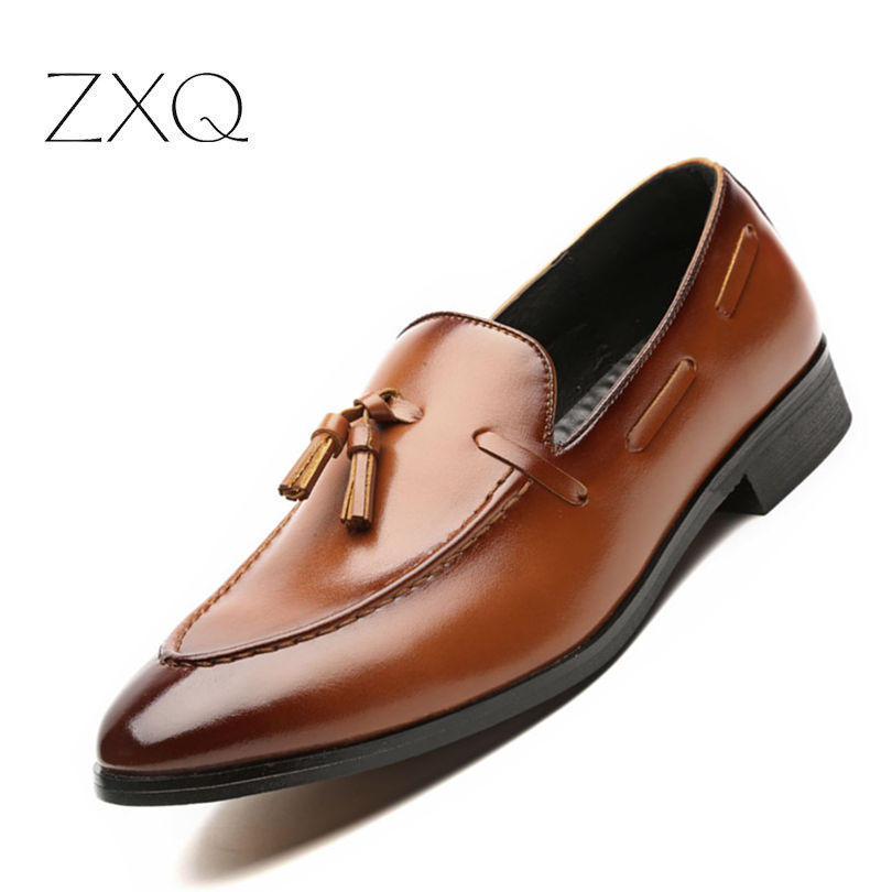 gland cuir de hommes mode brown qualit mocassins d 39 t verni lacets style chaussures black. Black Bedroom Furniture Sets. Home Design Ideas